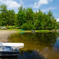 Boats are available for rent.- Paradox Lake Campground