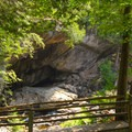 Cave opening at the Stone Bridge.- Natural Stone Bridge and Caves Park