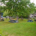 A large picnic area with tables and grills are available. - Veteran's Memorial Park