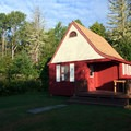 The Fundy Highlands Chalets offer a peaceful way to spend the night in the park.- Fundy Highlands Inn and Chalets