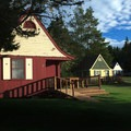 The Fundy Highlands Chalets have ample room between them.- Fundy Highlands Inn and Chalets