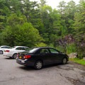 Parking for this location is in front of a small, picturesque pond.- Northwest Bay Brook Falls
