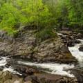 The lower falls of Northwest Bay Brook.- Northwest Bay Brook Falls