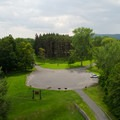 The campground from the top of the lighthouse.- Crown Point Campground