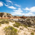 A view of the surrounding desert near the toadstools.- Toadstools Trail through Paria Rimrocks