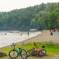 A large beach to accomodate guests.- Rogers Rock Campground