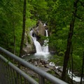 View of the falls from the upper level.- Bash Bish Falls State Park