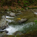 The water is crystal clear.- Bash Bish Falls State Park
