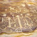 Petroglpyh panel.- Petroglyph Point Trail