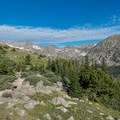 The Continental Divide seen from the ridge.- South Arapaho Peak