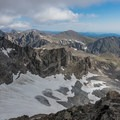 Looking north at the glacier and peaks beyond.- South Arapaho Peak