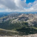 Looking south from the summit.- South Arapaho Peak