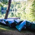 Canoeing, kayaking and paddle boating are available on Byrd Lake.- Cumberland Mountain State Park