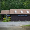 One of the many bathhouses in the campground.- Cumberland Mountain State Park Campground