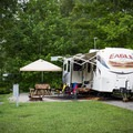 The spacious campsites give campers room to spread out. - Cumberland Mountain State Park Campground