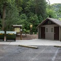 You'll find restrooms and a picnic area just down the road from Bald River Falls.- Bald River Falls