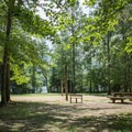 Enjoy a picnic with the family and a game of volleyball and then cool off in the swimming area, located just a short walk away.- Indian Boundary Campground