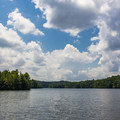Indian Boundary Lake offers boating with mountain views and wildlife watching.- Indian Boundary Campground