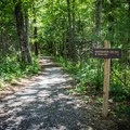 Both hikers and bikers are welcome on the trail.- Indian Boundary Campground
