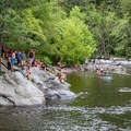Gather friends and family and take a dip in the cold mountain water.- Townsend Wye