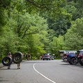 On summer days, the parking area fills up quickly. Arrive early to secure a spot!- Townsend Wye