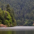 Boaters enjoying a day on Loon Lake.- Loon Lake Recreation Site