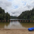 Large designated swim area.- Loon Lake Recreation Site