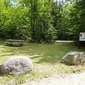 Picnic tables across from the parking area.- Frenchman's Hole