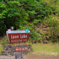 Entrance to the recreation site.- Loon Lake Recreation Site Campground