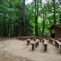 The amphitheater, built by Boy Scouts.- Loon Lake Recreation Site Campground