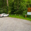 The parking area.- Millbrook Falls