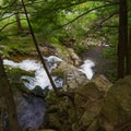 Looking down from the top of the waterfall.- Millbrook Falls
