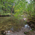 The first necessary Elk Creek crossing.- Elk Lake Creek: North Trailhead to Battle Creek