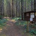Trailhead.- Elk Lake Creek: North Trailhead to Battle Creek