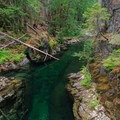 Emerald Pool is the highlight of this hike- Elk Lake Creek: North Trailhead to Battle Creek