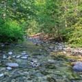 The third and final major creek crossing through Battle Creek.- Elk Lake Creek: North Trailhead to Battle Creek