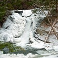 Millbrook Falls in winter.- Millbrook Falls