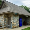 Restrooms and vending machines are plentiful in the park.- Chimney Rock State Park