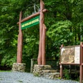 The Great Woodland Adventure Trailhead.- Chimney Rock State Park