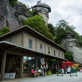 A restaurant and gift shop at the base of Chimney Rock.- Chimney Rock State Park