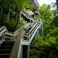Stairs. So many stairs.- Chimney Rock State Park