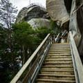 Just 200 steps left.- Chimney Rock State Park