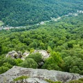 Pulpit Rock from above.- Chimney Rock State Park