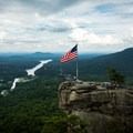 The view of Chimney Rock and Hickory Nut Gorge.- Chimney Rock State Park