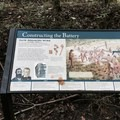 Signs help explain the Confederate construction.- Torreya Trail