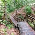 A bridge along the Torreya Trail.- Torreya Trail