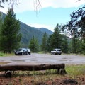 Specimen Creek Trailhead offers ample parking for foot and stock users.- Sky Rim Trail: Specimen Creek to Black Butte