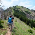 Hiking the ridgeline.- Sky Rim Trail: Specimen Creek to Black Butte