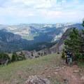 The Sky Rim Trail has its fair number of ups and downs.- Sky Rim Trail: Specimen Creek to Black Butte
