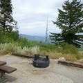 Each picnic area has a fire pit and table.- Shafer Butte and Mores Mountain Trailhead
